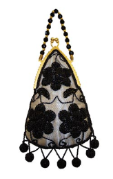 Aliz Tear-Drop Beaded Evening Bag