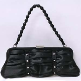 Black Satin Handbag