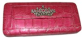 Crown Themed Croc Print Wallet