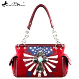 A Montana West Spiritual Collection Handbag_Red, White & Blue