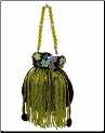 Aliz Beaded, Fringed Evening Bag