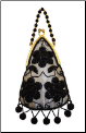 Aliz Tear-Drop Beaded Evening Bag (SKU: T86S)