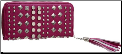Studded Tassel Wallet